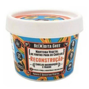 BE(M)DITA GHEE - RECONSTRUÇÃO PAPAYA E QUERATINA VEGETAL 100g - Lola Cosmetics