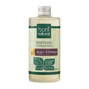 Shampoo Hidratação Suave Argan e Linhaça 500ml - Boni Natural