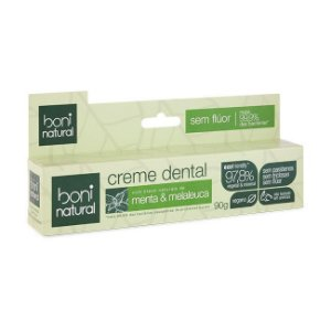Creme Dental Sem Fluor Menta e Melaleuca 90g - Boni Natural