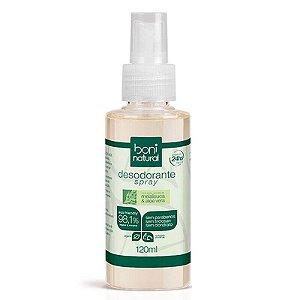 Desodorante Spray Melaleuca e Aloe Vera 120mL - Boni Natural