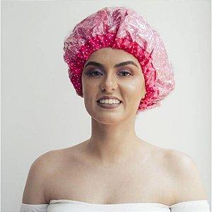 Touca de Banho Poá Pink - Turban