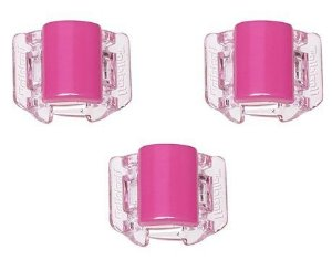 Linziclip MINI - Cartela com 3 - Basic Hot Pink