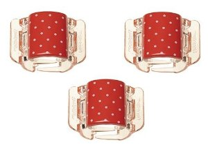 Linziclip MINI - Cartela com 3 - Polka Dot Jazzy Red