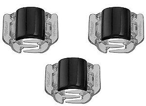 Linziclip MINI - Cartela com 3 - Classic Black Solid