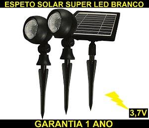 Espeto Refletor Solar Spot Super Led Branco Frio 36 Leds