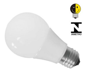 Lâmpada Led Bulbo E27 7w Branco Frio e Quente Inmetro Bivolt