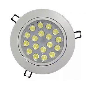 Lâmpada Spot Led 18w Dicróica Branco Frio e Quente Redonda - Alumínio Branco e Prata