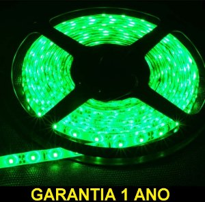 Fita Led Verde 3528 12v Rolo 5 Metros Ip65