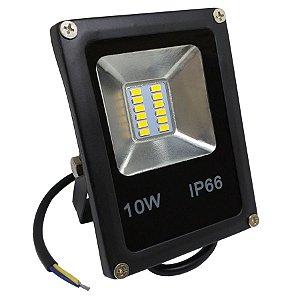 Refletor Led SMD 10w Branco Quente IP66 Bivolt