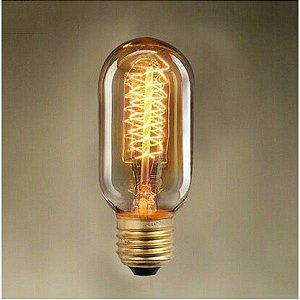 Lâmpada Filamento de Carbono 40w 220v E27 T45 Retrô