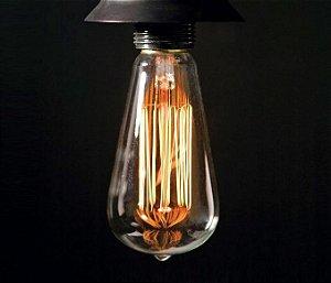 Lâmpada Filamento de Carbono 40w 110v E27 Taschibra ST64 Retrô