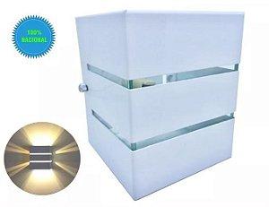 Arandela De Parede Muro Externa 2 Fachos Friso + Lâmpada Led