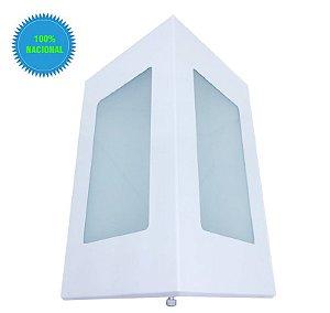 Arandela De Parede E Muro Externa Triangular 2 Vidros E27