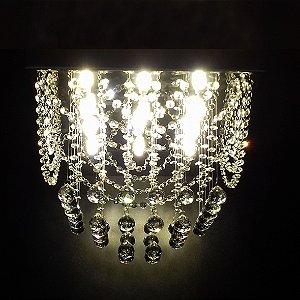 Lustre de Cristal quadrado com alças 40x40cm + Lâmpada Led