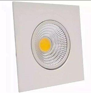 Spot Led Dicróica Cob 5w Direcionável Branco Quente Quadrado