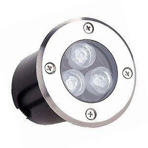 Balizador Spot Led Embutir 3w Piso Ip67 Branco Quente e Frio 110-220V