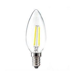 Lâmpada Led Vela E14 2w Branco Quente Filamento Retrô 110-220V