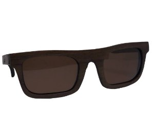 Óculos de Sol de Madeira Unissex Varow Lente Polarizada