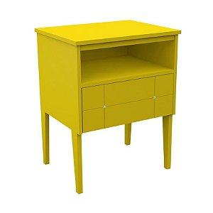 Criado-Mudo Amarelo - Detalhes Em Cristal Swarovski