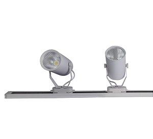 Trilho Eletrificado 1m + 2 Spot Led 7w Branco Quente e Branco Frio 220v