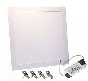 Plafon Led Embutir Slim 48w 62x62 Branco Frio, Neutro e Quente Bivolt