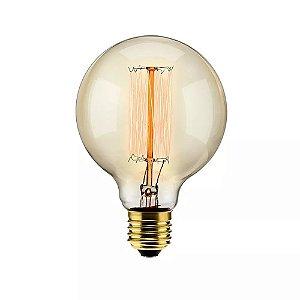 Lâmpada Filamento de Carbono 40w 220v E27 G95 Retrô