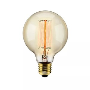Lâmpada Filamento de Carbono 40w 110v E27 G95 Retrô