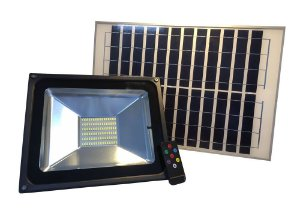 Refletor Solar Led Holofote 50W Branco Frio