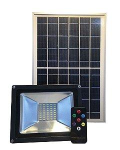 Refletor Solar Led Holofote 20W Branco Frio