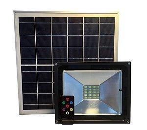 Refletor Solar Led Holofote 30W Branco Frio