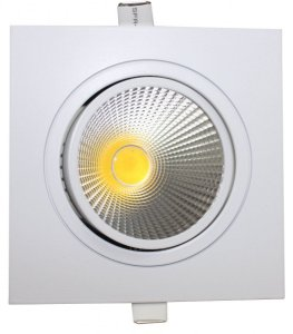 Spot Led Dicróica Cob 7w Direcionável Branco Quente e Frio Quadrado