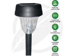 Luminária Solar Balizadora ABS