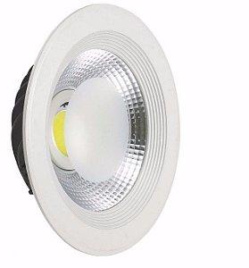 Luminária de embutir Spot Downlight Led Cob 30w Branco Quente e Branco Frio