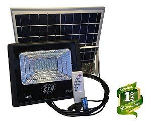 Refletor Solar Led Holofote 40W Branco Frio