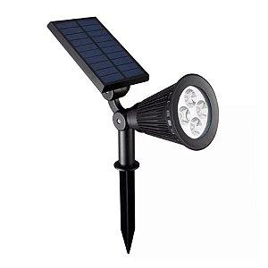 Luminária Espeto Spot Solar Super led 2w Branco Frio 3.7v