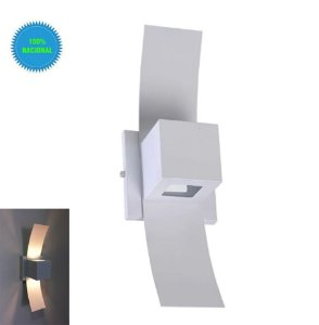 Arandela box aba de parede externa 2 fachos alumínio