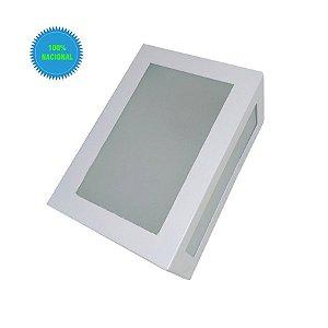 Arandela De Parede E Muro Externa 5 Vidros E27 Branca