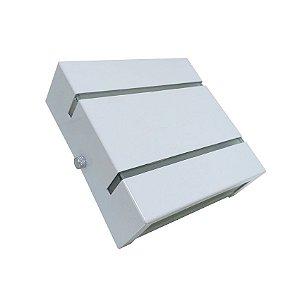 Arandela De Parede E Muro Externa Slim 2 Frisos Branca + Lâmpada Led