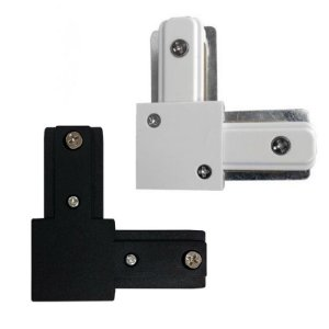 Emenda conector para trilho eletrificado em L Preto e Branco