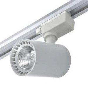 Trilho Eletrificado 1m + 1 Spot Led 18w Branco Quente e Branco Frio Bivolt Branco