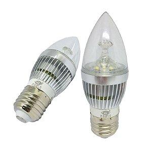 Lâmpada Led Vela 3w E27 Cristal Branco Frio e Quente 110-220v