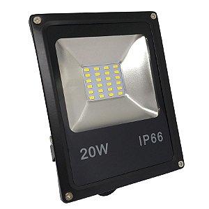 Refletor Led SMD 20w Branco Quente IP66 Bivolt