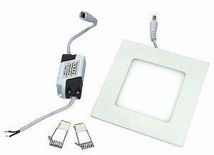 Luminária Embutir Painel Led Plafon 3w Branco Frio Redondo e Quadrado