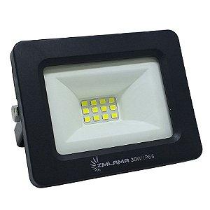 Refletor Led SMD Slim 30w Branco Frio IP66 Bivolt