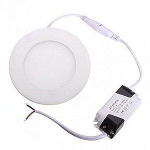 Luminária Embutir Painel Led Plafon 3w Branco Quente Redondo e Quadrado