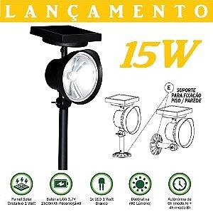 Refletor Led Solar Luminária Jardim Spot 1w 60xluz Branca - PRONTA ENTREGA