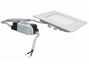 Plafon Led Embutir Quadrado 6w Branco Quente e Frio 110-220v