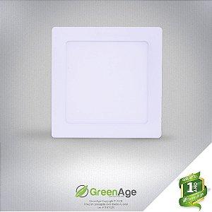 Plafon Led Embutir Quadrado 9w Branco Quente e Frio 110-220V