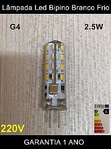 Lâmpada Led G4 Bipino 2.5w Branco Quente e Frio (lustres) 220v Classe A