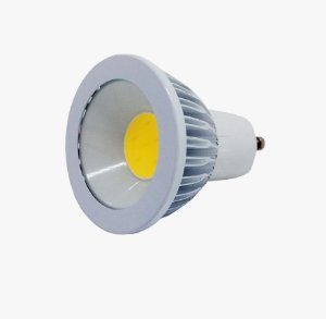 Lâmpada Led Dicróica Spot Gu10 Cob Branco Quente e Frio 3w